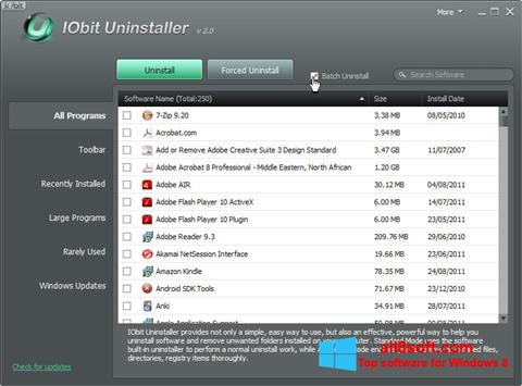 Screenshot IObit Uninstaller para Windows 8