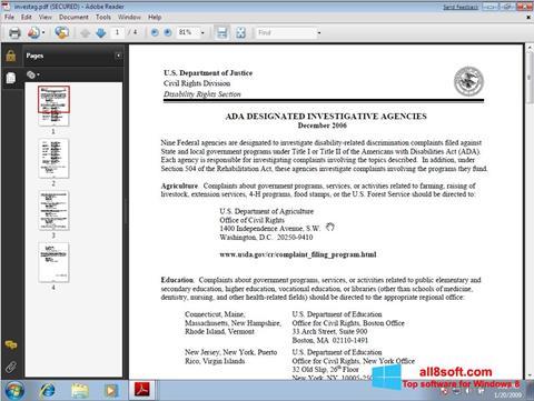 Screenshot Adobe Reader para Windows 8