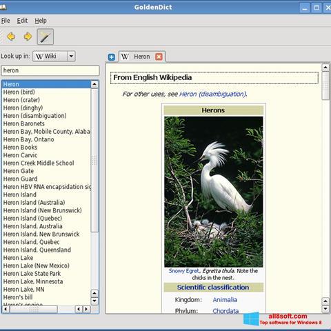 Screenshot GoldenDict para Windows 8