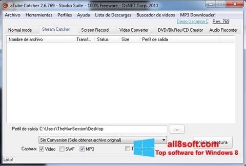 Screenshot aTube Catcher para Windows 8
