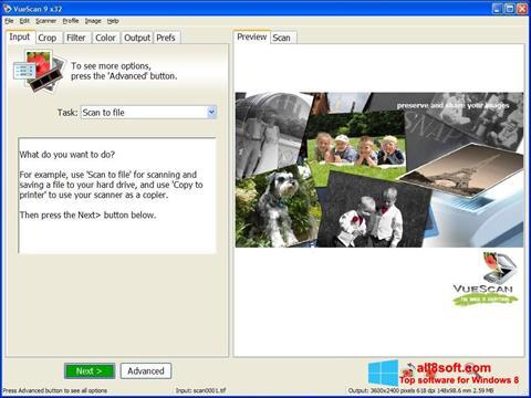 Screenshot VueScan para Windows 8