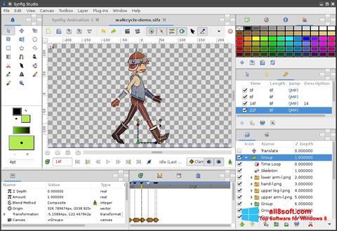 Screenshot Synfig Studio para Windows 8