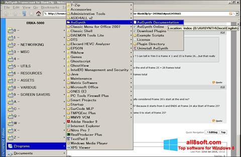 Screenshot AviSynth para Windows 8