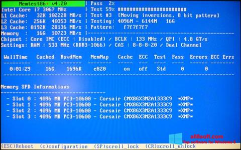 Screenshot MemTest para Windows 8
