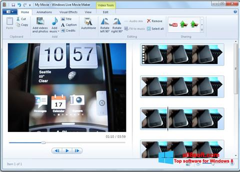 Screenshot Windows Live Movie Maker para Windows 8