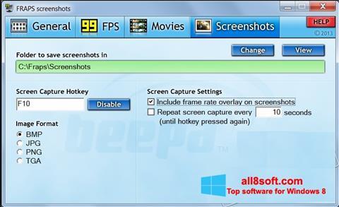 Screenshot Fraps para Windows 8