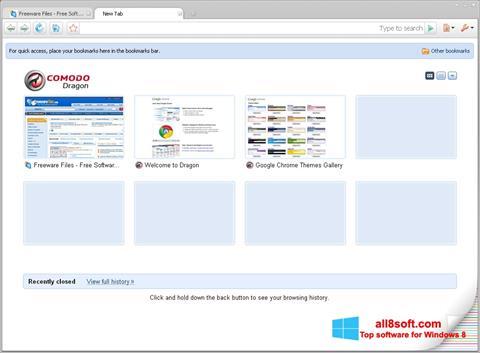 Screenshot Comodo Dragon para Windows 8