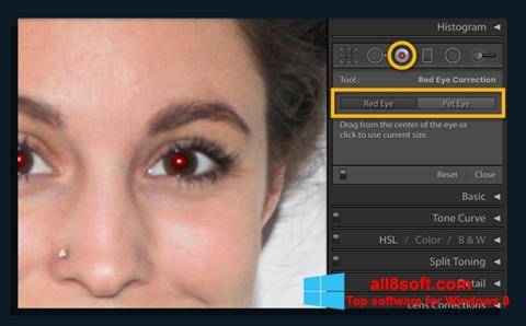 Screenshot Red Eye Remover para Windows 8