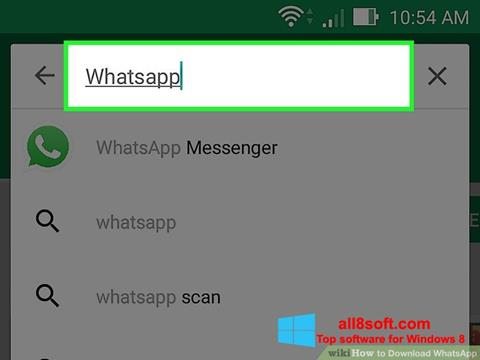 Screenshot WhatsApp para Windows 8