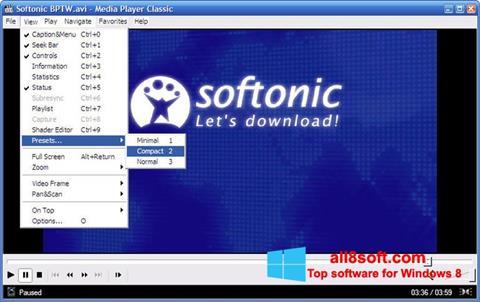 Screenshot Media Player Classic para Windows 8