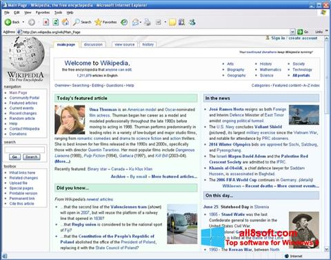 Screenshot Internet Explorer para Windows 8