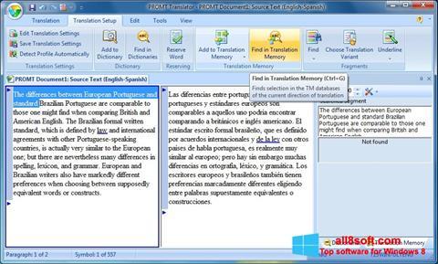 Screenshot PROMT para Windows 8
