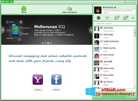 Screenshot ICQ para Windows 8