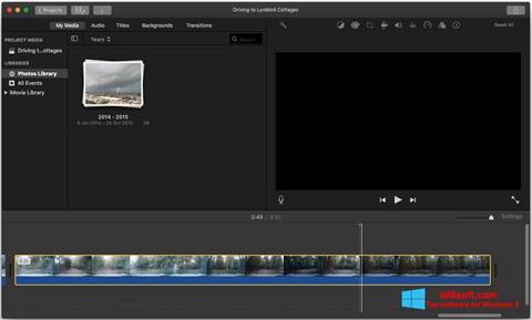 Screenshot iMovie para Windows 8