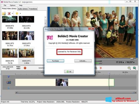Screenshot Bolide Movie Creator para Windows 8
