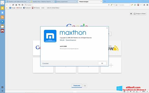 Screenshot Maxthon para Windows 8