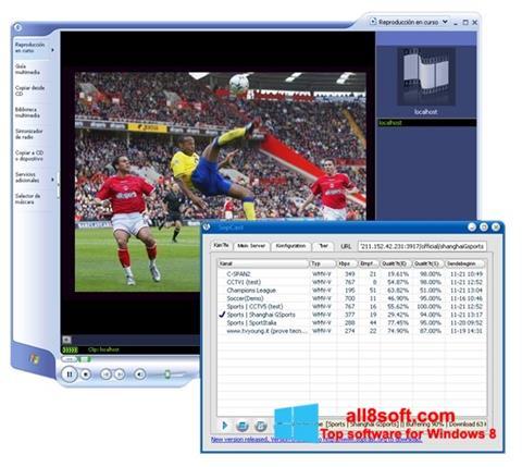 Screenshot SopCast para Windows 8