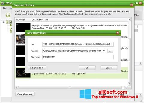 Screenshot Free Video Catcher para Windows 8
