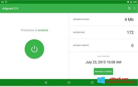Screenshot Adguard para Windows 8