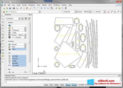 Screenshot DraftSight para Windows 8