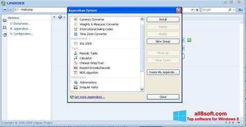 Screenshot Lingoes para Windows 8