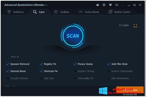 Screenshot Advanced SystemCare para Windows 8