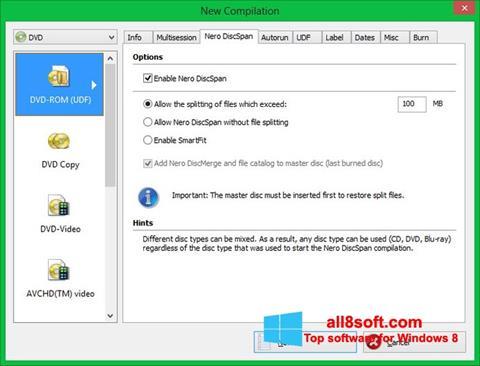 Screenshot Nero Image Drive para Windows 8