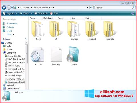 Screenshot Windows 7 USB DVD Download Tool para Windows 8