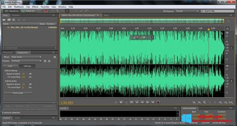 Screenshot Adobe Audition para Windows 8
