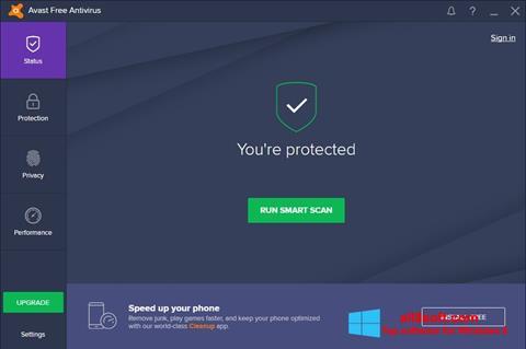 Screenshot Avast Free Antivirus para Windows 8