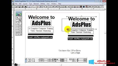 Screenshot Adobe PageMaker para Windows 8