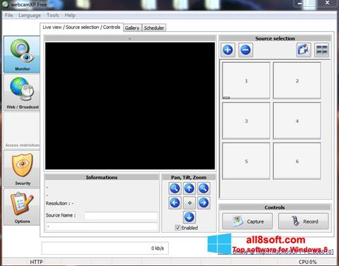Screenshot webcamXP para Windows 8