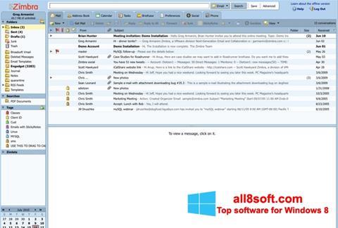 Screenshot Zimbra Desktop para Windows 8