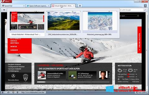Screenshot Opera para Windows 8