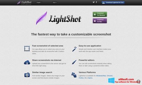 Screenshot LightShot para Windows 8