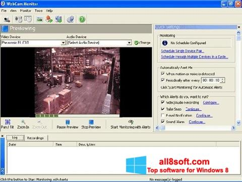 Screenshot WebCam Monitor para Windows 8