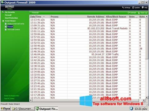 Screenshot Outpost Firewall Free para Windows 8