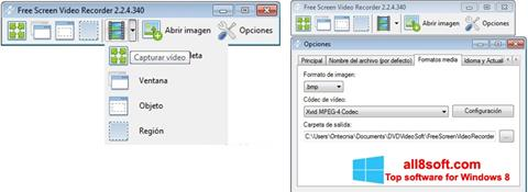 Screenshot Free Screen Video Recorder para Windows 8