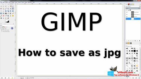 Screenshot GIMP para Windows 8