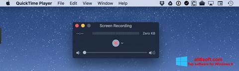 Screenshot QuickTime para Windows 8