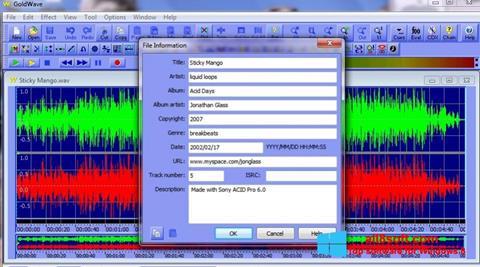 Screenshot GoldWave para Windows 8