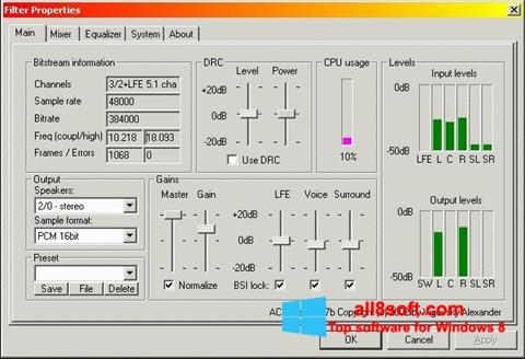 Screenshot AC3 Codec para Windows 8