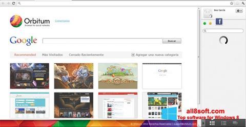 Screenshot Orbitum para Windows 8