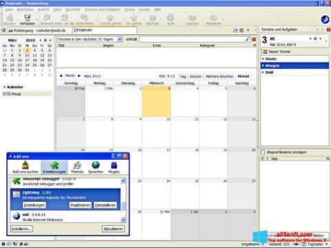 Screenshot SeaMonkey para Windows 8