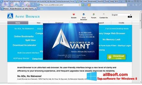 Screenshot Avant Browser para Windows 8