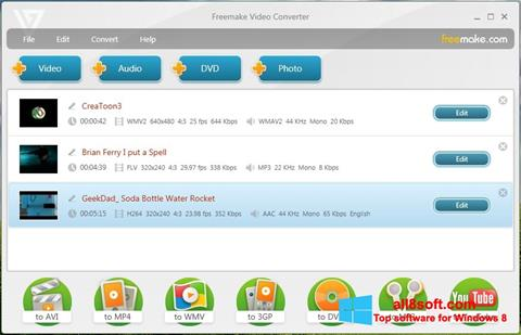 Screenshot Freemake Video Converter para Windows 8