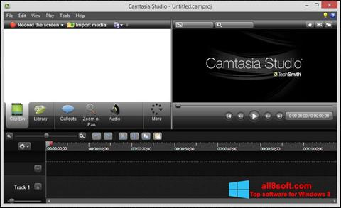 Screenshot Camtasia Studio para Windows 8