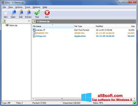 Screenshot IZArc para Windows 8