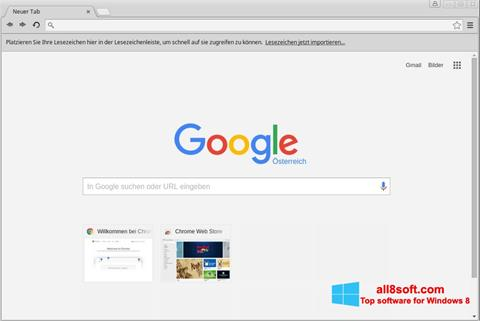 Screenshot Google Chrome para Windows 8