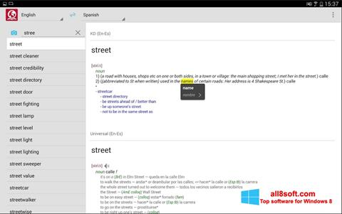 Screenshot ABBYY Lingvo para Windows 8